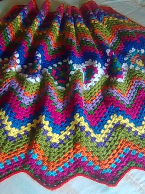 crochet pattern - granny zigzag afghan Crochet Stitches, Tips & Tut ...