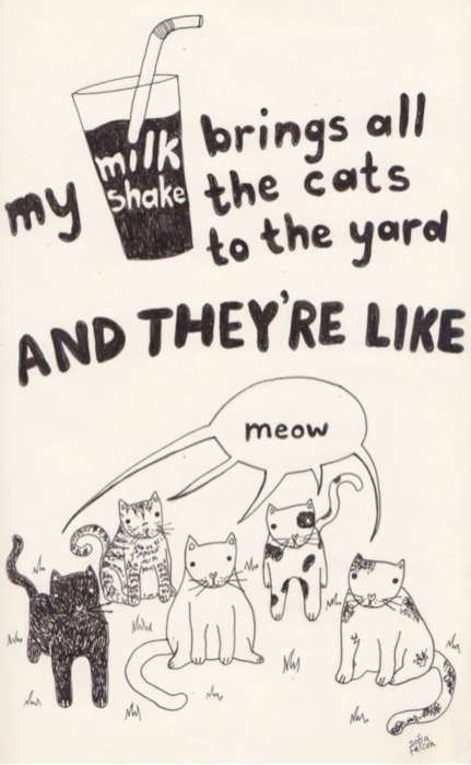 Cats to the yard.