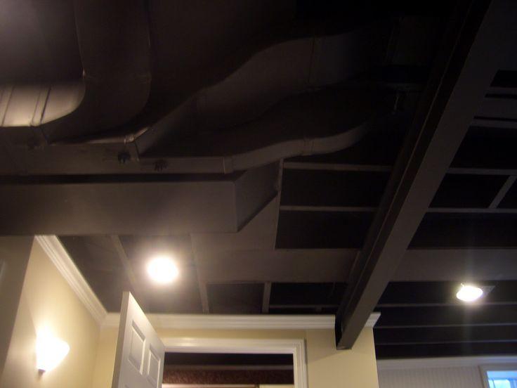 Black Paint Basement Ceiling House Ideas Pinterest