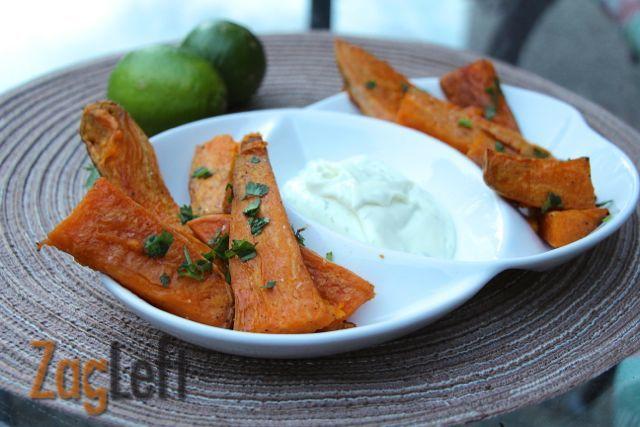 Sweet Potato Wedges With Lime Mayo - ZagLeft