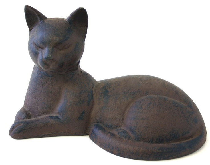 Cast Iron Lying Cat Door Stop A House Is Not A Home