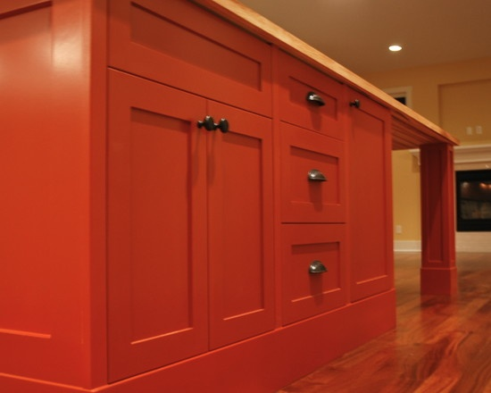 Orange Cabinets are Gorgeous