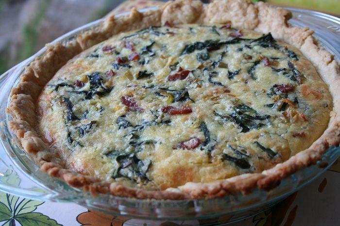 Swiss Chard, Leek & Bacon Quiche | Food Stuff | Pinterest