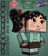 Vanellope Von Schweetz Cubeecraft from Disney's Wreck it Ralph