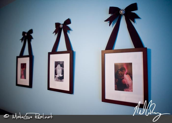 hang frame with ribbon For the Home Pinterest