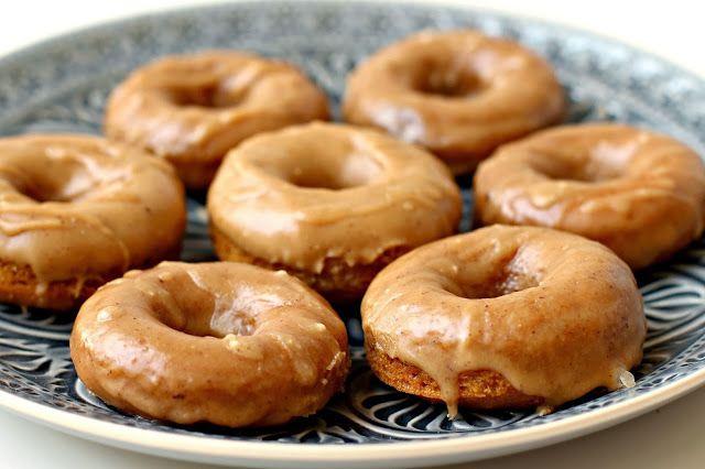... Baked Mini Buttermilk Pumpkin Doughnuts with Brown Butter-Maple Glaze