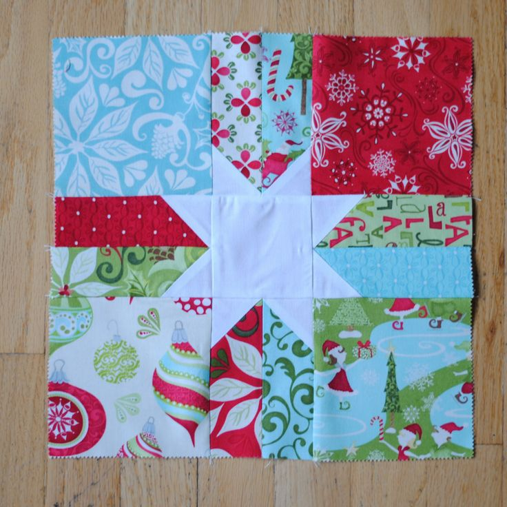 Free+Christmas+Quilt+Blocks | The block measures 12 1/2″ square, and ...