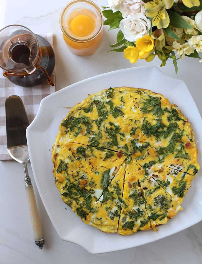 butternut squash and kale frittata - perfect recipe for #Easter & # ...
