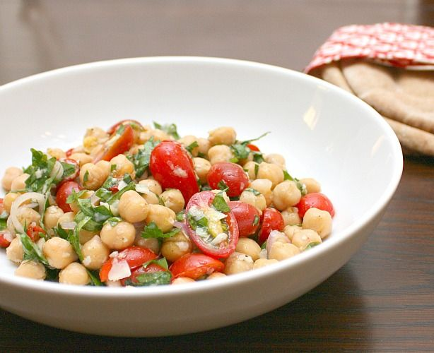 Chickpea Salad With Lemon, Parmesan, And Fresh Herbs Recipes ...