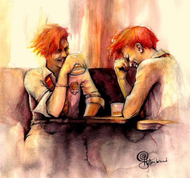 Weasley Twins  from Tumblr Fred And George Weasley Anime