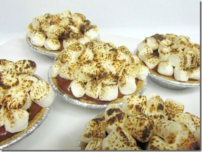 Peanut Butter Chocolate Chip Cookie Dough Mini S'mores Pies