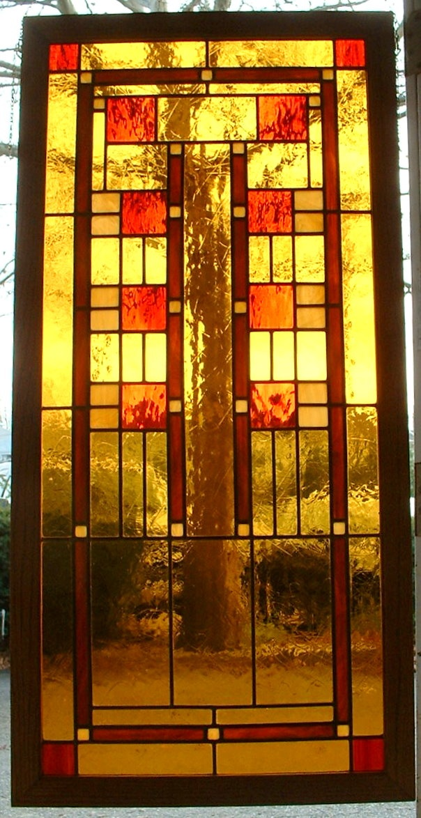 Frank Lloyd Wright Inspired Stained Glass Pinterest
