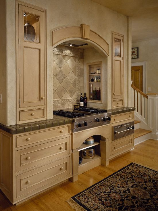 Cook top vent hood built in cabinets tile in style for Stove top with built in vent