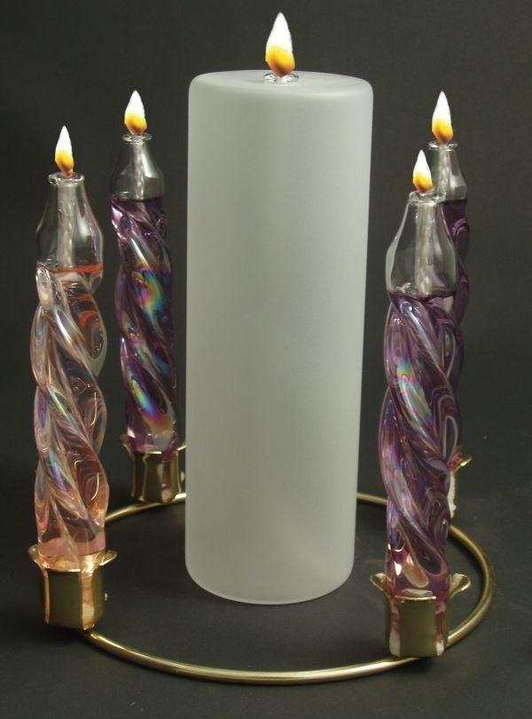 Oil Burning Advent Wreath | Church Ideas | Pinterest