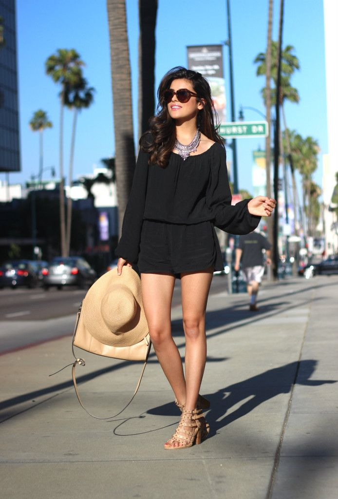 fashion, style, what is fashion, black romper, cute romper, summer outfit trends, outfit ideas, summer, spring, karen walker, number one sun...