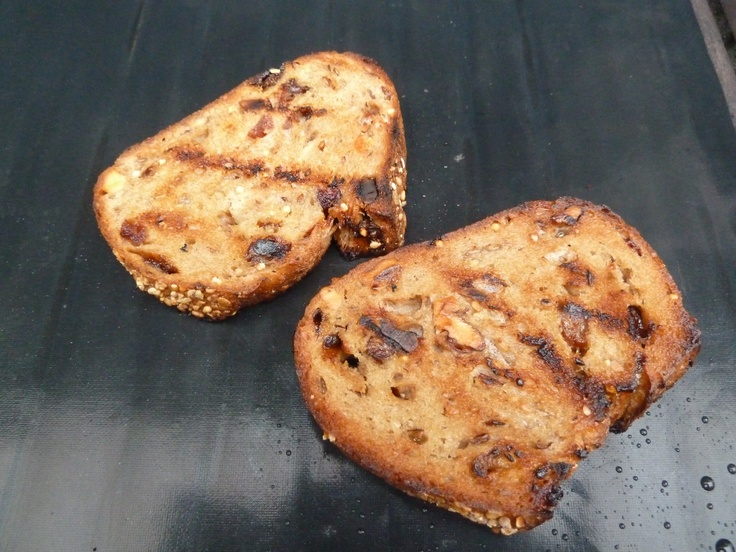 Grilled Whole Foods granola bread. Yum. | Grilled Cuisine | Pinterest