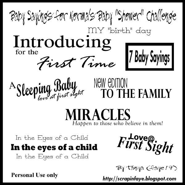 Baby Sayings For Scrapbooking Baby Scrapbook Sayings