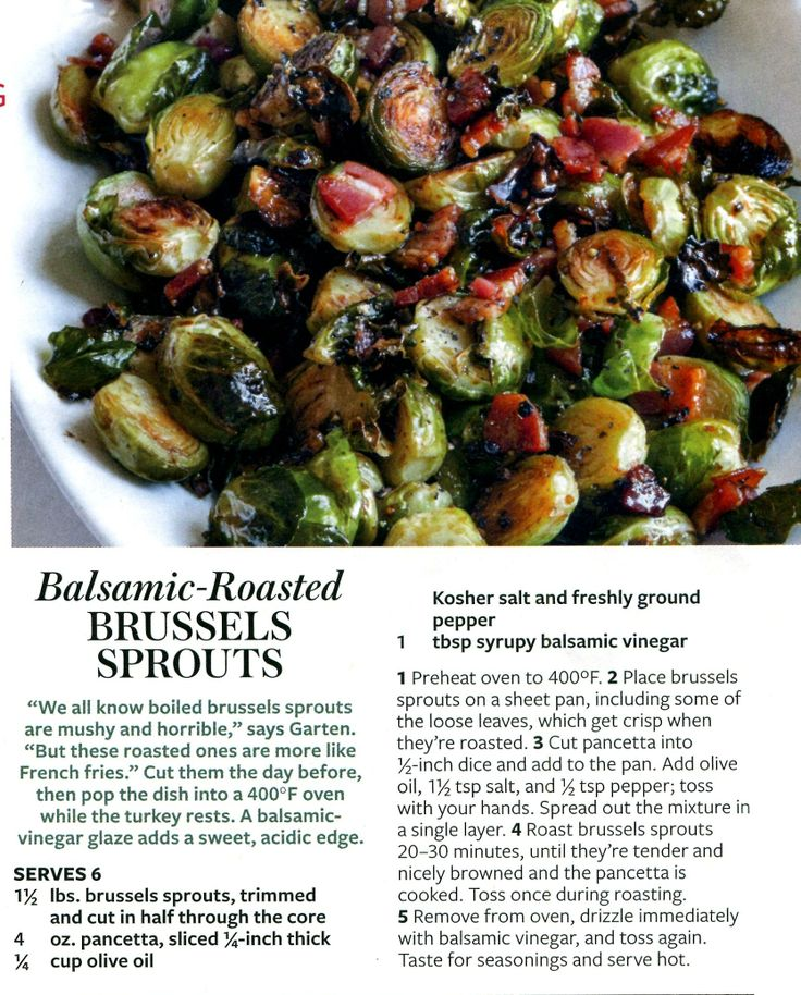 Balsamic roasted brussel sprouts | Supporting Actors ...
