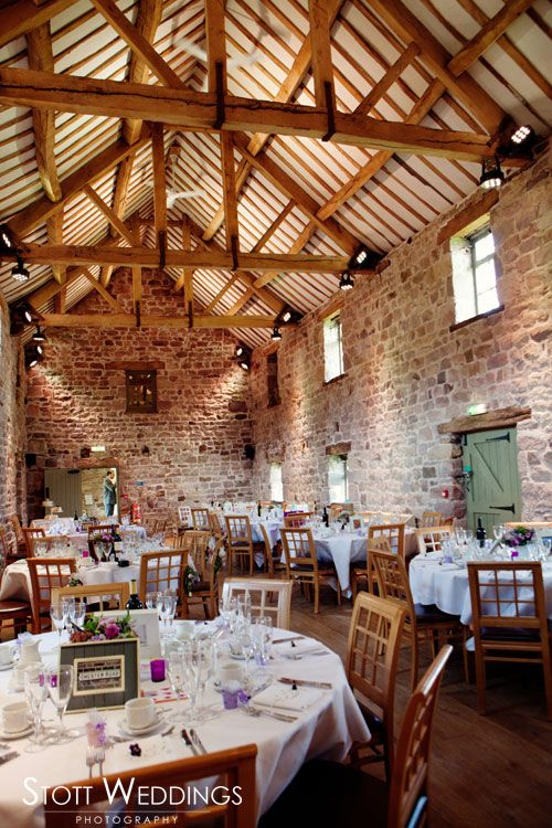 The East Barn All Set Up For The Wedding Breakfast