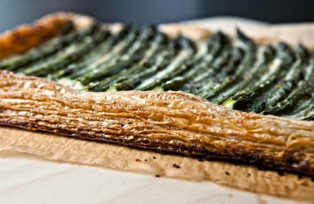 asparagus tart with walnuts and parmesan | Foodness | Pinterest