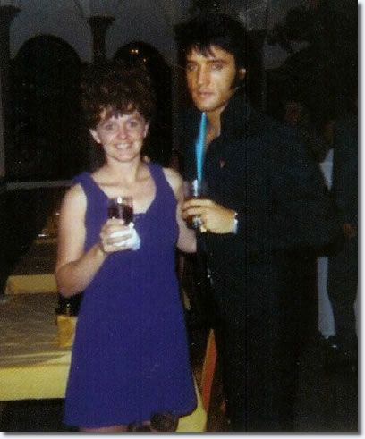 Elvis and a fan (Elvis really blossomed in 1968 when He began getting in shape for his Comeback Special).