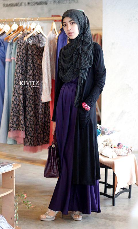 Maxi dress with long cardigan