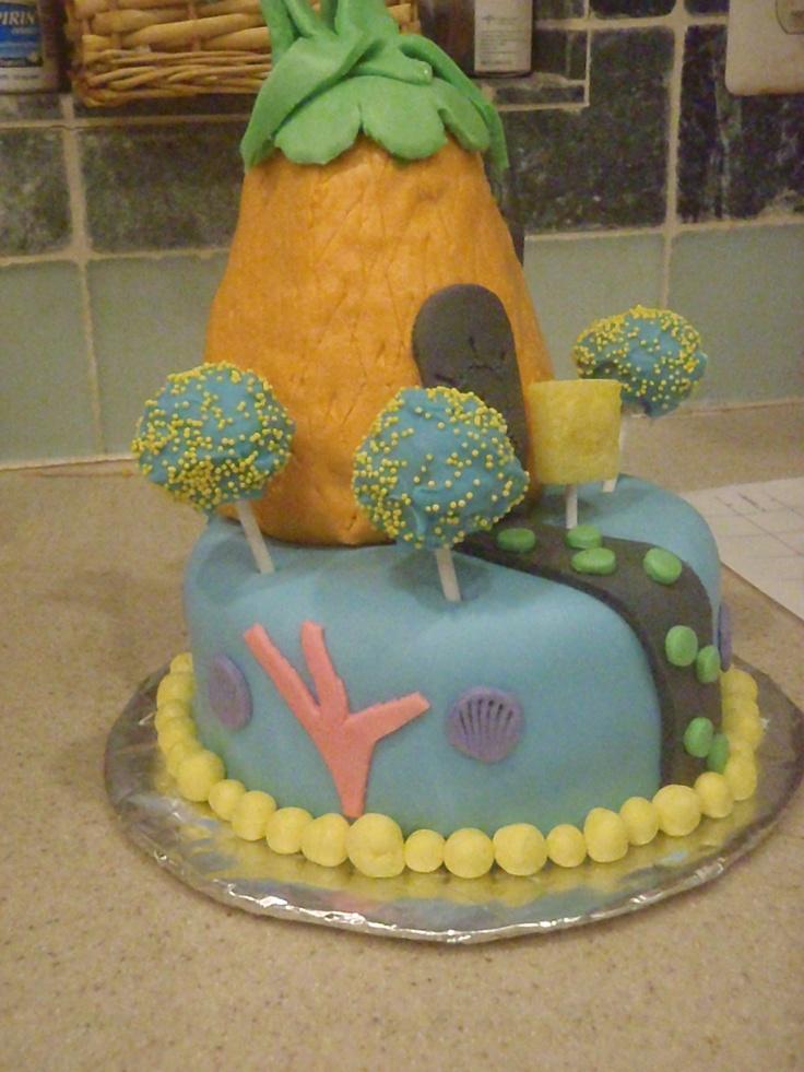 Sponge Bob birthday cake | Cake decorating ideas | Pinterest