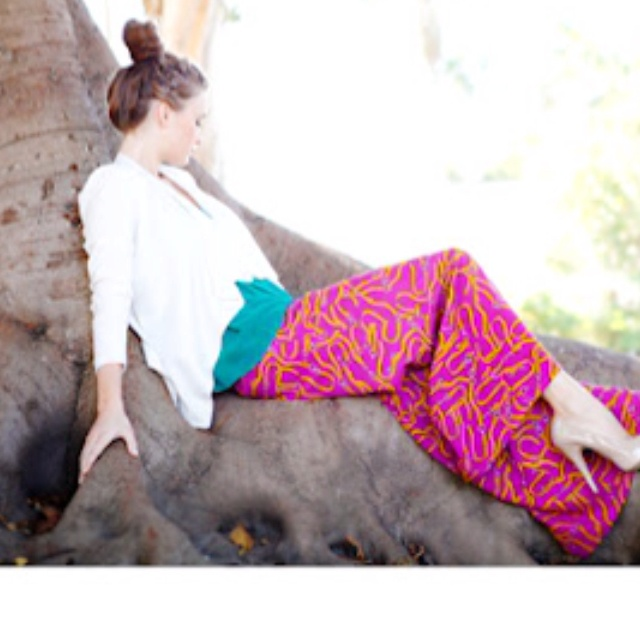 I would def wear these colorful pants!