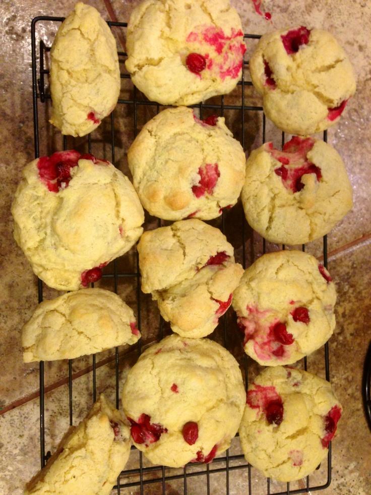 Cranberry Scones. Grandma Johnson's Scone from Allrecipes.