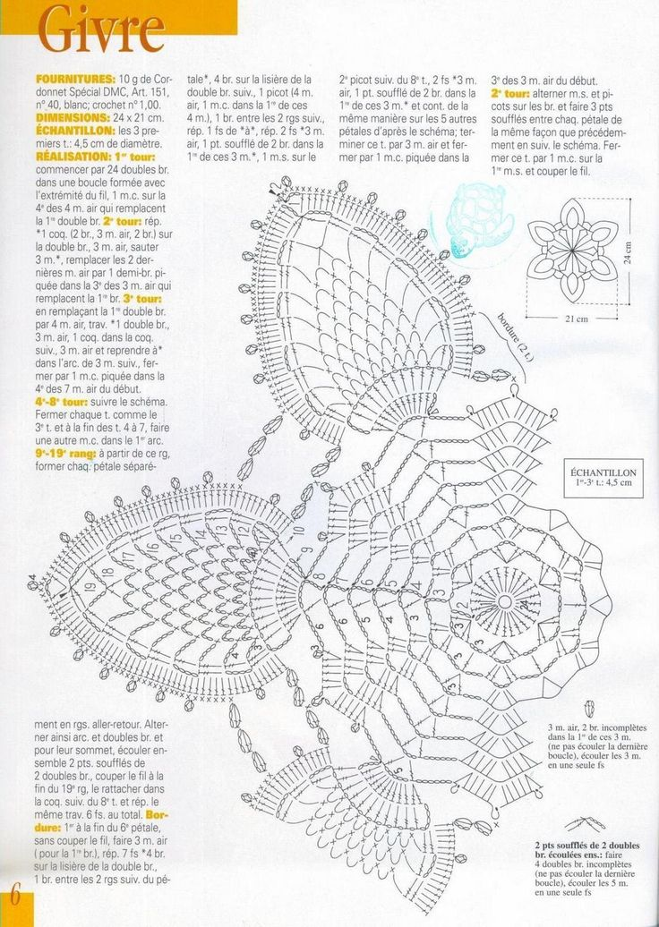 Crochet Diagram : crochet pineapple doilies diagram