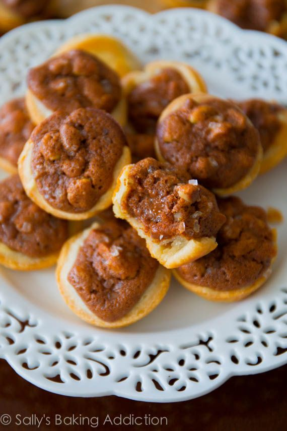 Salted Pecan Pie Tarts with Homemade Crust - easier than you think ...