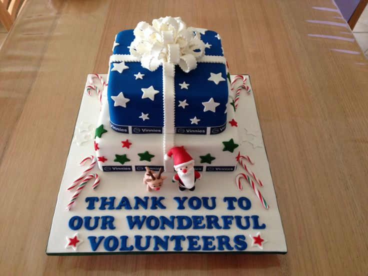 Thank you cake for St Vinnies Cake decorating Pinterest