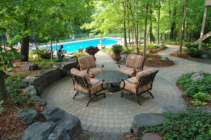 cool patio and landscaping