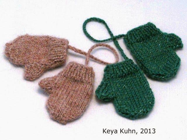 Mini Mittens Free knitting pattern knitting Pinterest