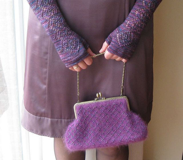 Farinelli gloves and Morning Glory purse