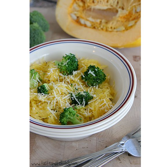 Lemon-Pepper Spaghetti Squash and Broccoli I cooked the broccoli with ...