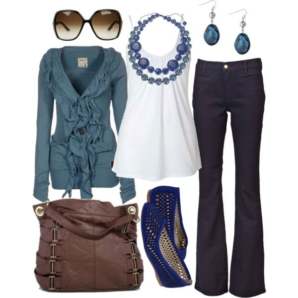 bluish, created by htotheb on Polyvore