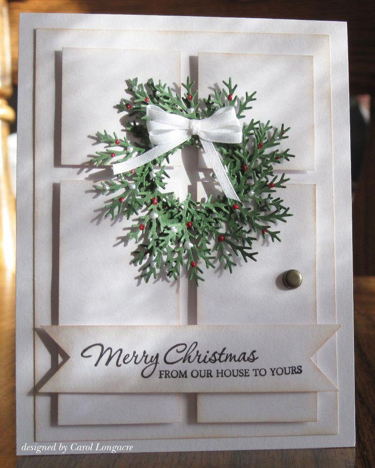 christmas wreath card ideas