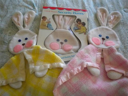 3 Vintage Fisher Price Security Blankets