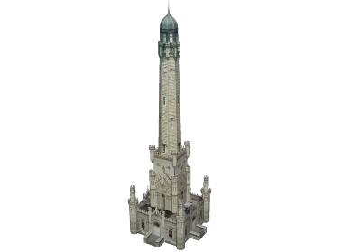 Water Tower in 3D