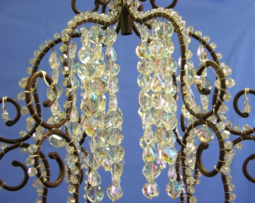 Make your own crystal chandelier for the home pinterest for Build your own chandelier