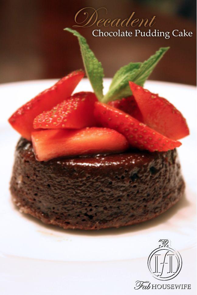 Chocolate Pudding Cake | Chocolate = Love | Pinterest