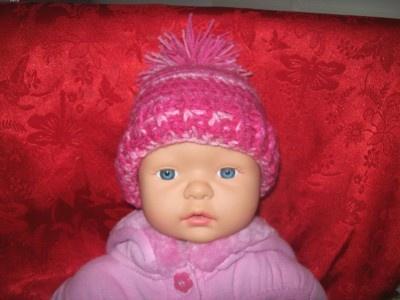 Cats-Rockin-Crochet Fibre Artist.: Quick Crochet Newborn Baby Beanie