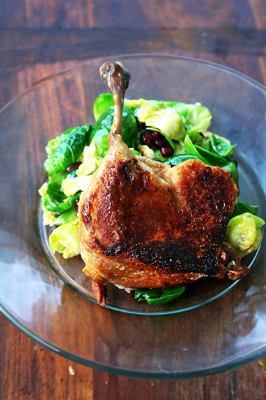 duck salad with thai chile lime dressing easy duck confit simple ...