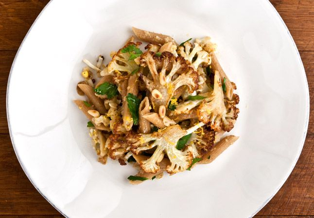 Cauliflower Pasta with Pecorino, Grated Egg, and Pine Nuts from Bon ...