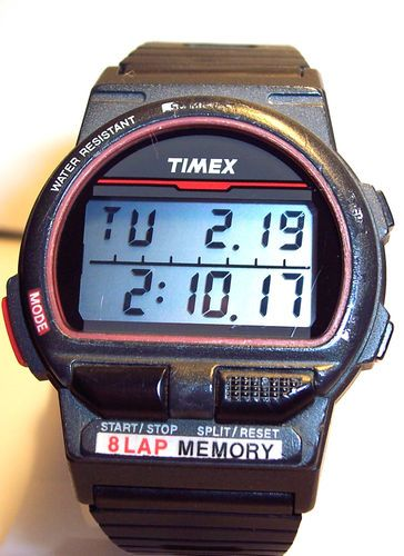 Vintage Timex Men's 8 Lap Triathlon 50 Meters Digital ...