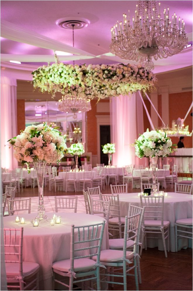 Simple Yet Beautiful White Table Decor At The Houston Country Club
