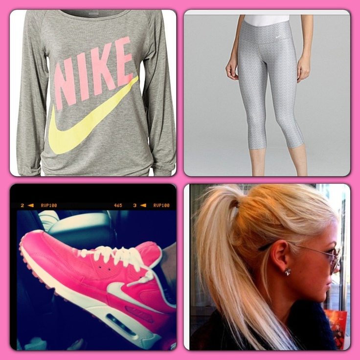 Pink Nike Outfit   Athletics   Pinterest