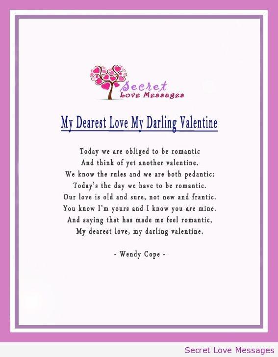 valentine love poems for husband