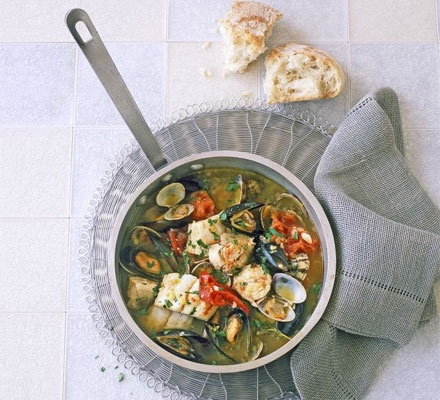 Seafood stew with saffron | What To Do With Conwy Mussels | Pinterest